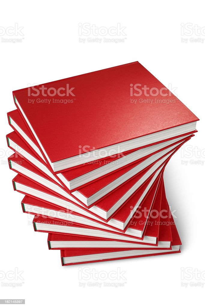 Red books royalty-free stock photo