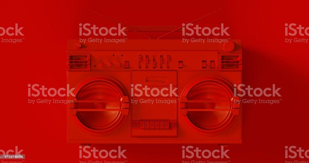 Red Boombox stock photo