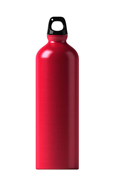 red bottle stock photo