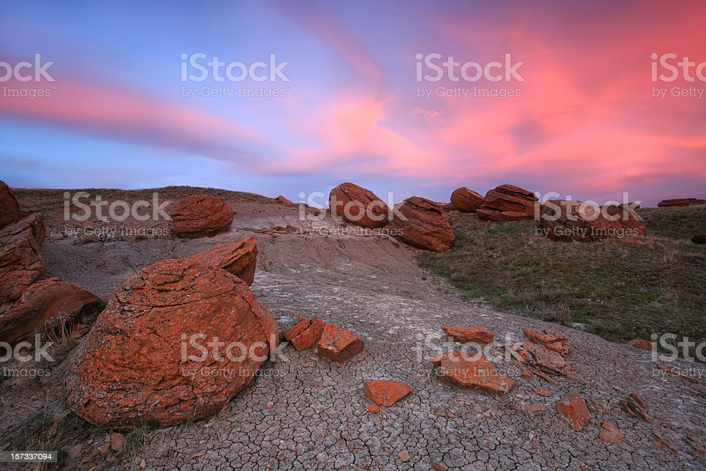 Red Boulders stock photo