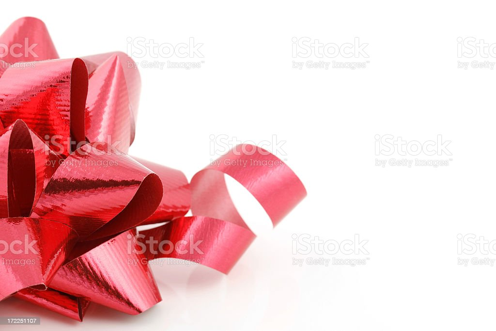 Red Bow and Ribbon royalty-free stock photo