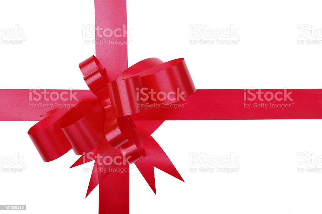 Red Bow Gift royalty-free stock photo