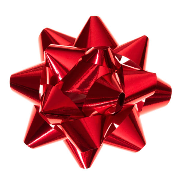Red bow isolated stock photo