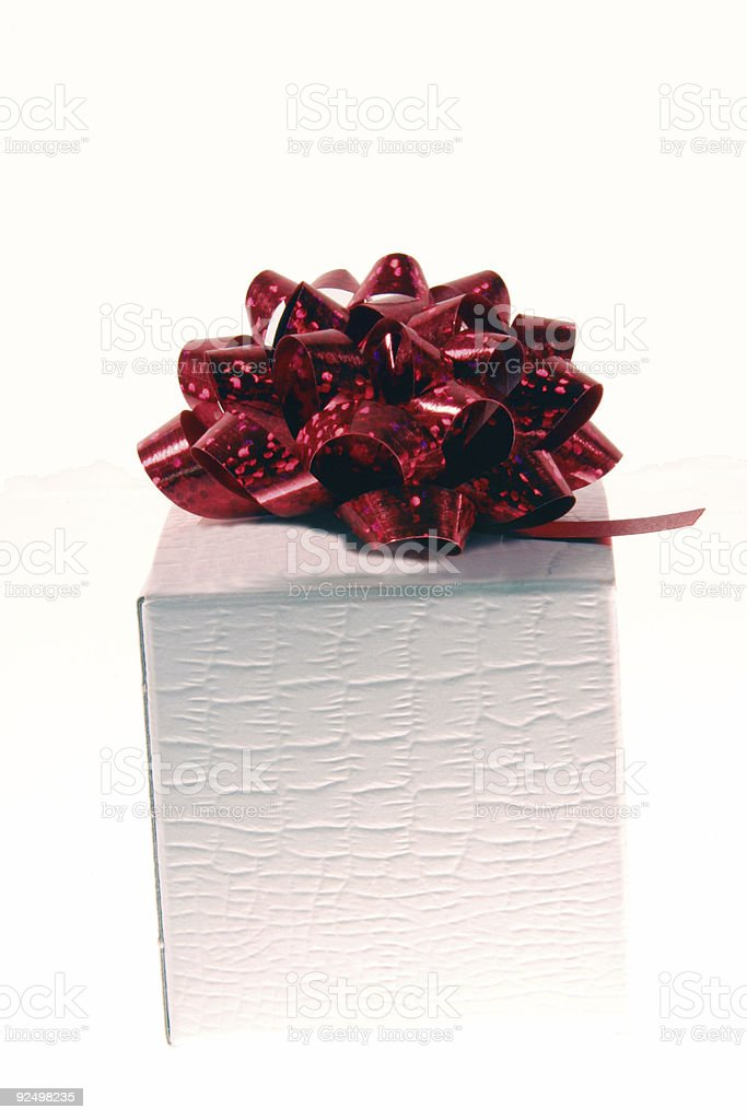 Red Bow on Gift box w-clip royalty-free stock photo
