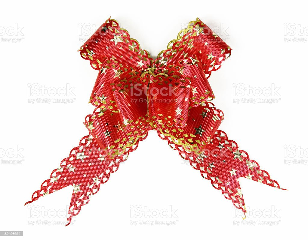 red bow on white background royalty-free stock photo