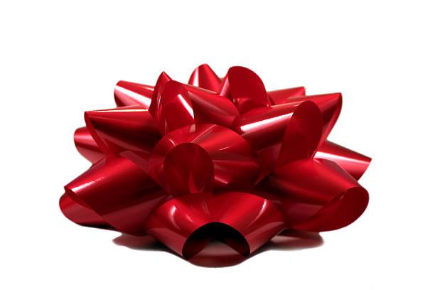rote schleife ontop - geschenkschleife stock-fotos und bilder