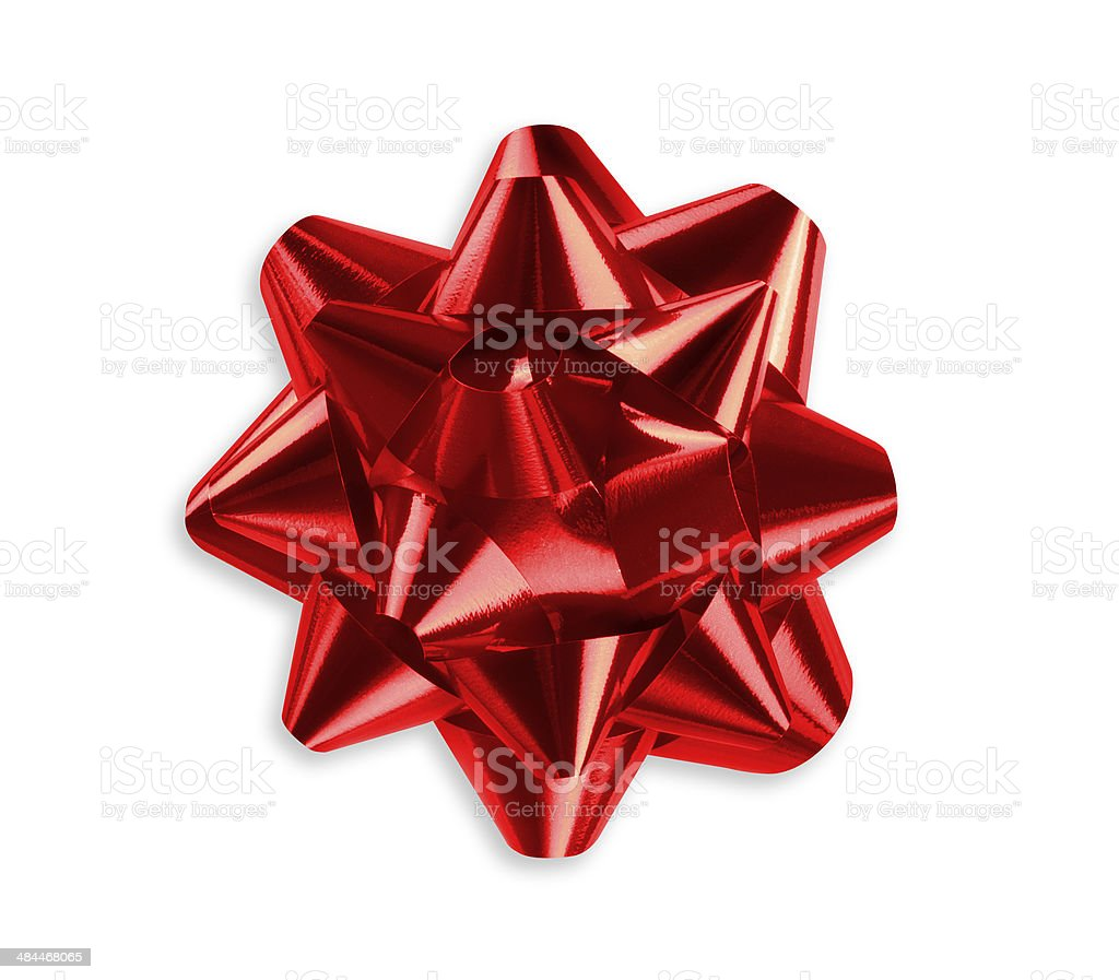 Red bow stock photo