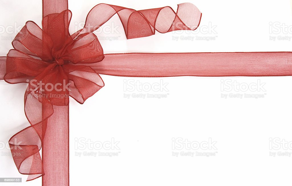 Red bow royalty free stockfoto