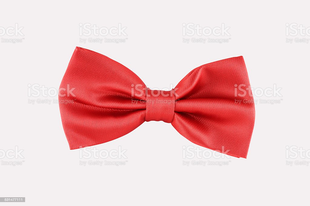 red bow tie close up stock photo