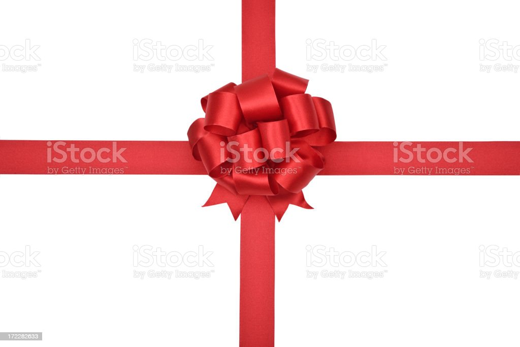 Red Bow (CLIPPING PATH) XL royalty-free stock photo