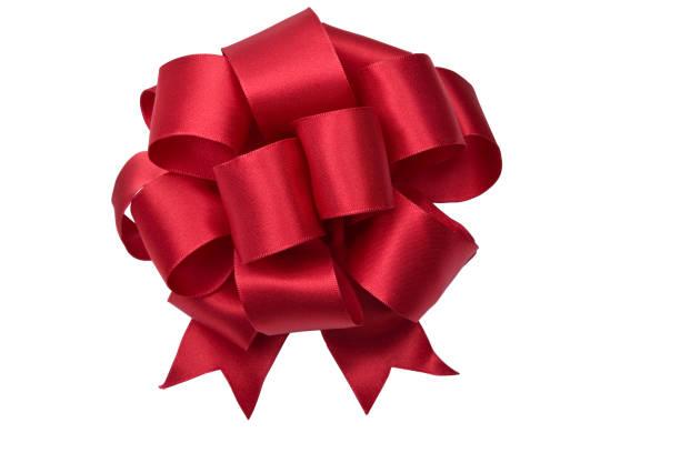 rote schleife (clipping path)-xl - geschenkschleife stock-fotos und bilder