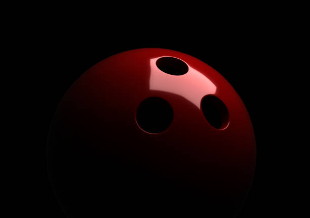 Red bowling ball stock photo