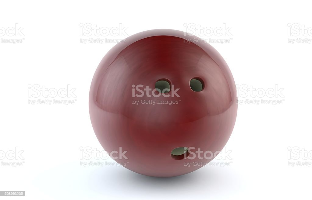 Red Bowling Ball - Stock Image stock photo