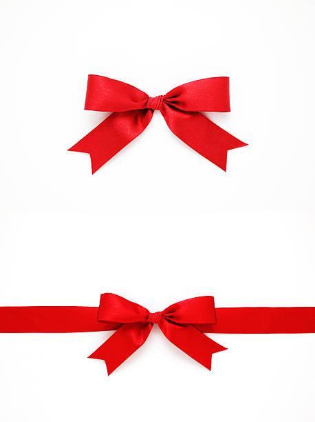 roter schleife und band (clipping path - geschenkschleife stock-fotos und bilder