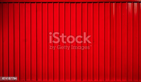 istock Red box container striped line background 674187794