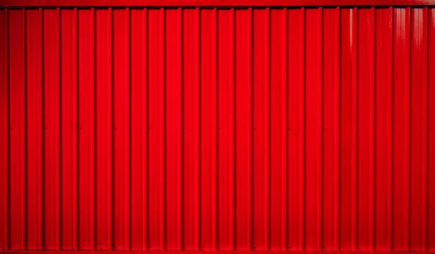 fundo da linha caixa vermelha recipiente listrado - recipiente - fotografias e filmes do acervo
