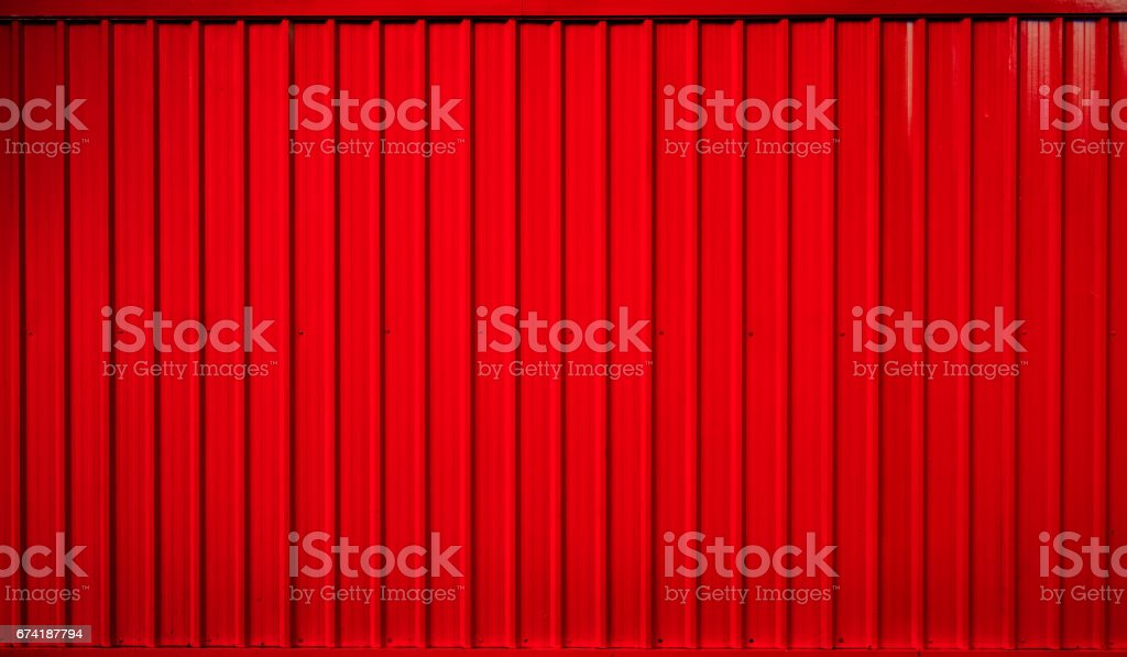 Red box container striped line background stock photo
