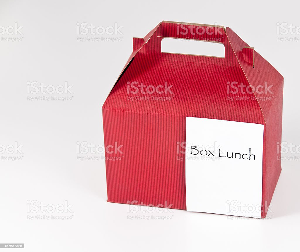 Red Box Lunch royalty-free stock photo