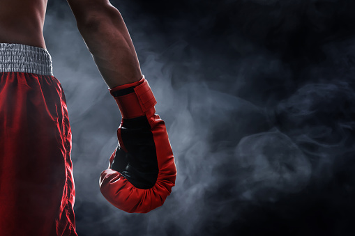 istock Red boxing glove 1006291908