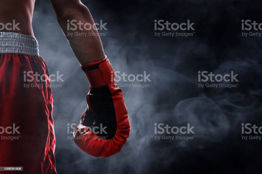 Red boxing glove - foto stock