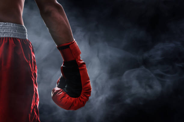 red boxing glove - combat sport stock pictures, royalty-free photos & images