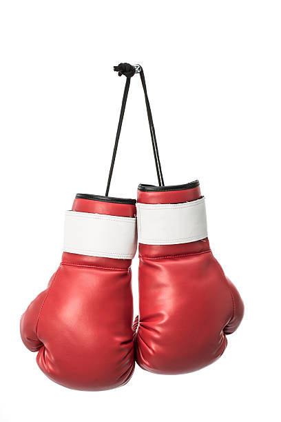 red boxing gloves stock photo