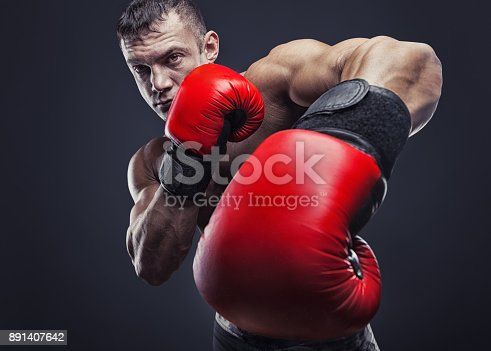 istock Red boxing gloves 891407642