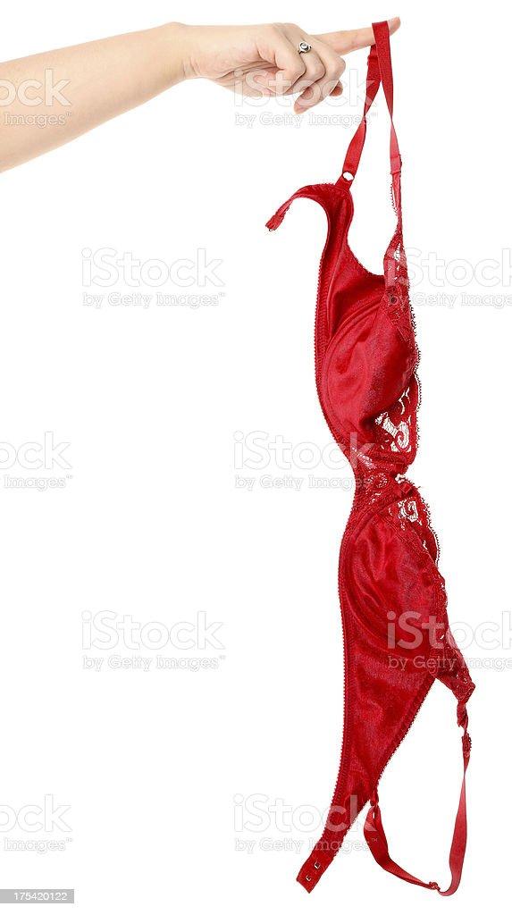 Red Bra royalty-free stock photo