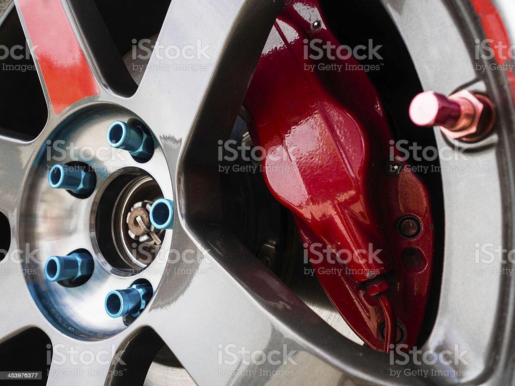 red brake royalty-free stock photo
