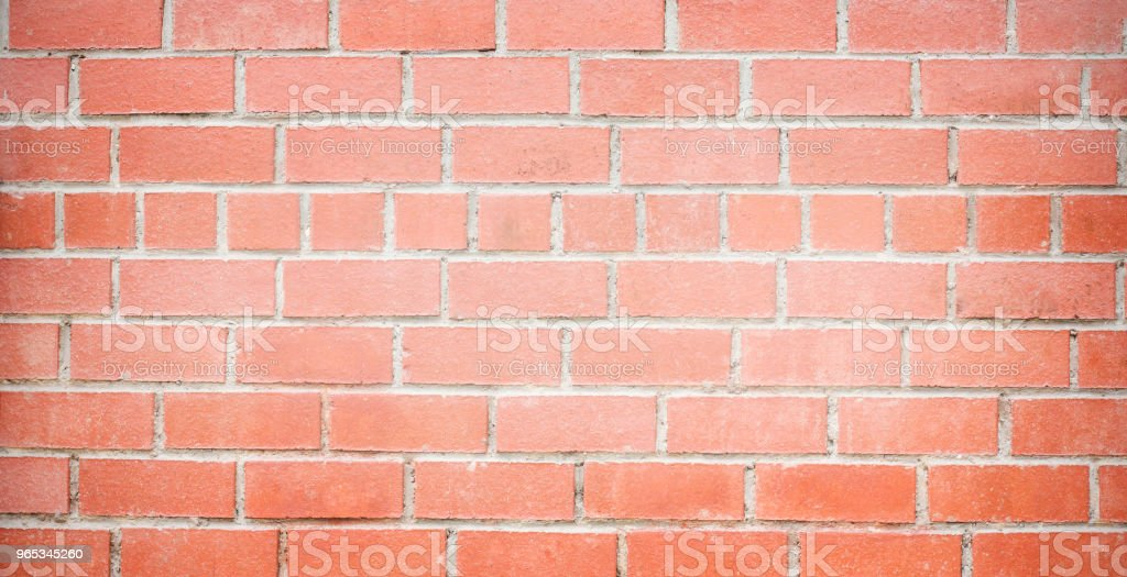 Red brick aged wall background texture, banner zbiór zdjęć royalty-free