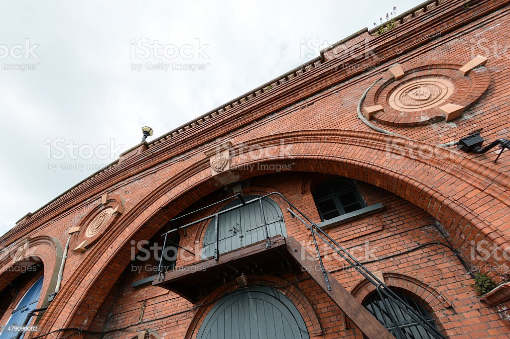 Red Brick Arch stock photo