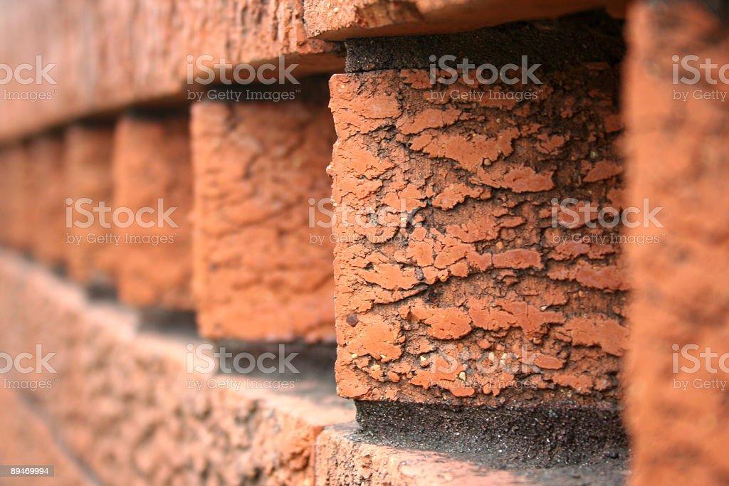 Красный кирпич Забор Стоковые фото Стоковая фотография