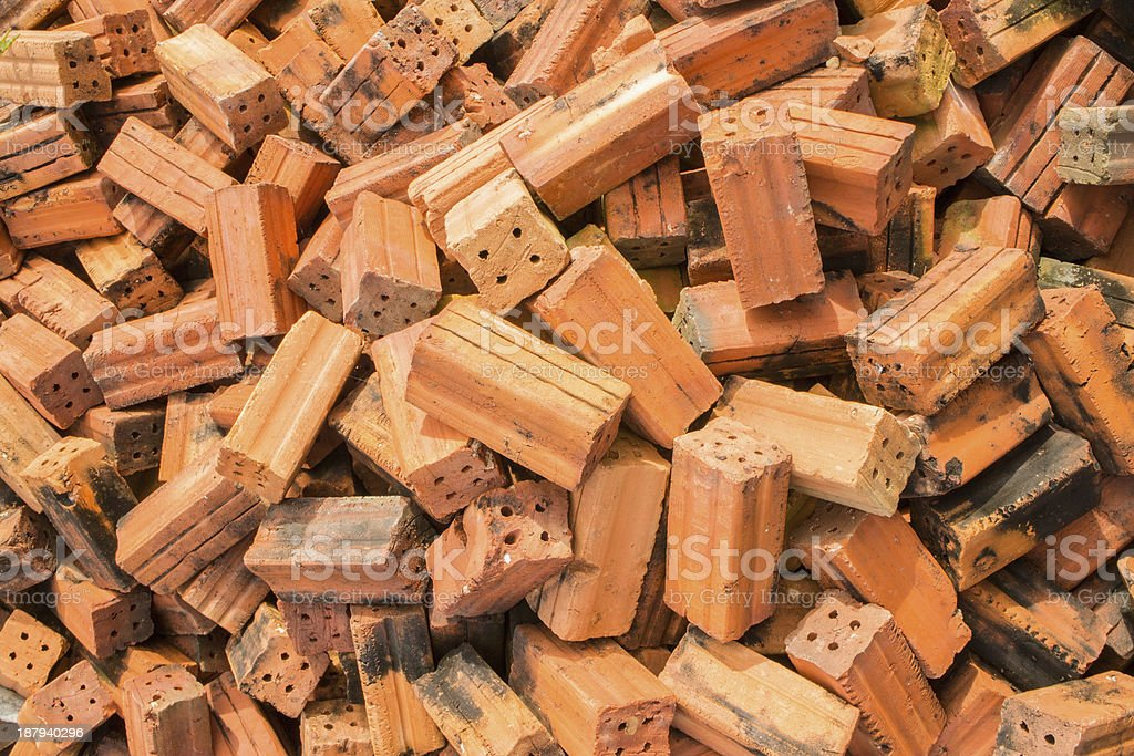 Red brick for construction royalty-free stock photo