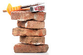 istock Red Brick, Hammer and Chisel 183818891