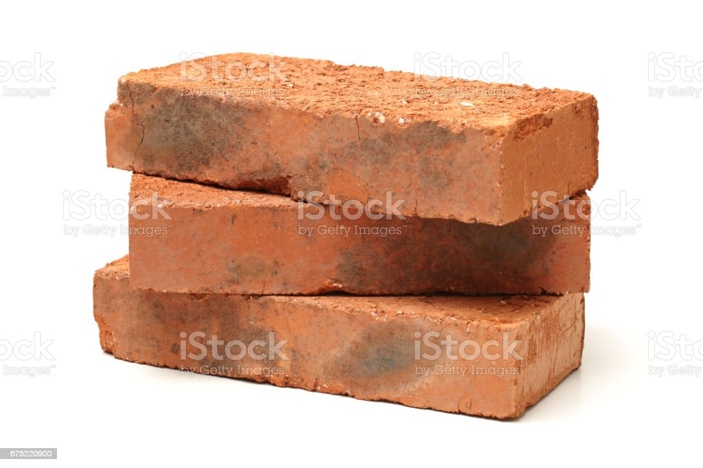 Red brick  Isolated on White Background royalty-free stock photo