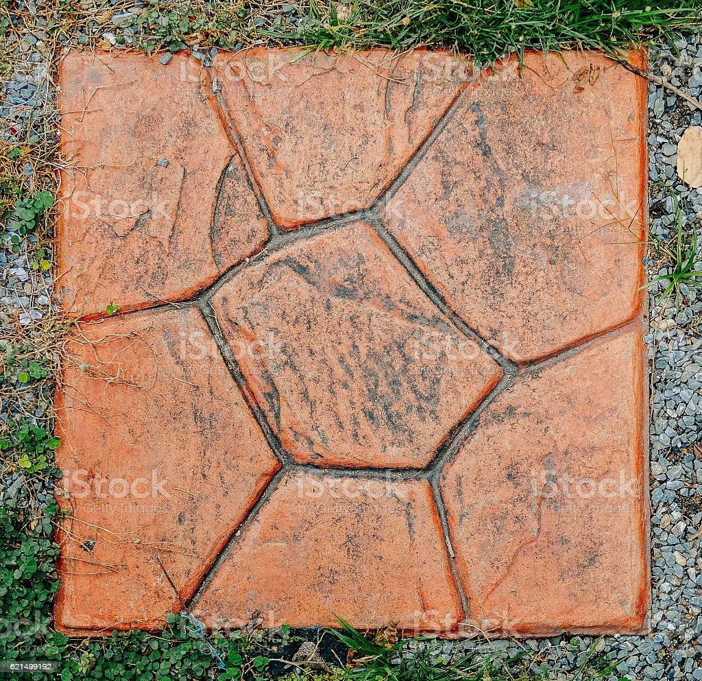 red brick on gravel Lizenzfreies stock-foto