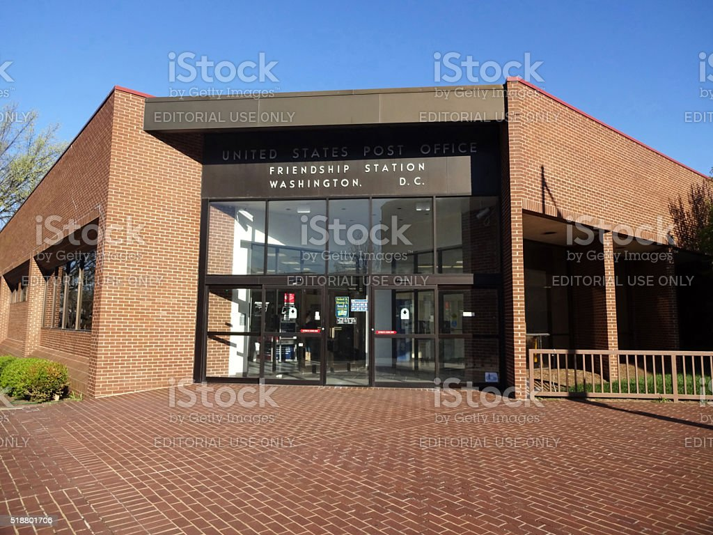 Red Brick Post Office Building stock photo