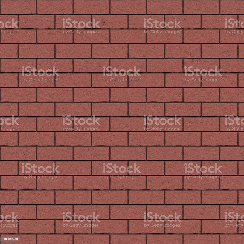 Red brick wall background, seamless texture