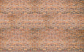 Red  brick vintage old wall texture background with many rows of masonry