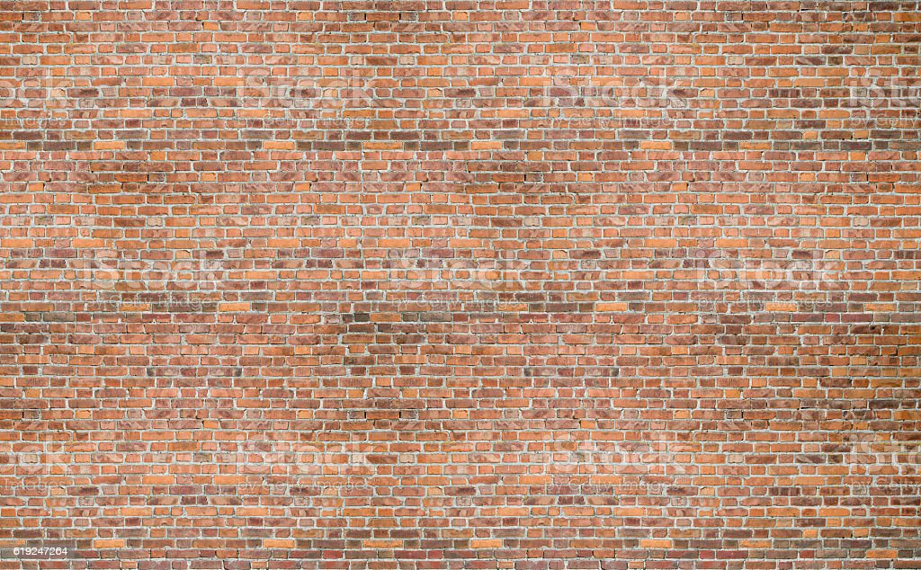 Red  brick vintage old wall texture background stock photo