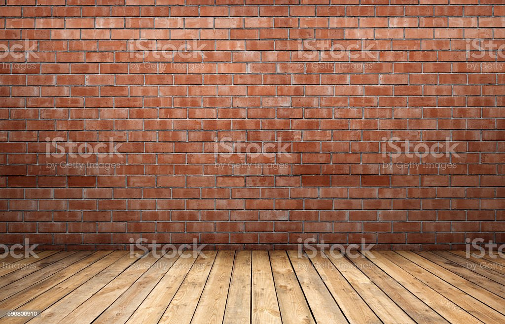 Red Brick Wall And Wooden Floor Stock Photo More Pictures Of