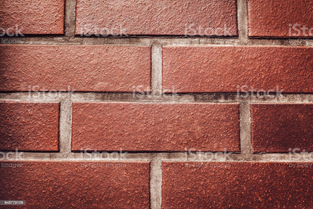 Red Brick Wall Background Texture Of A Stone Wall Closeup Of