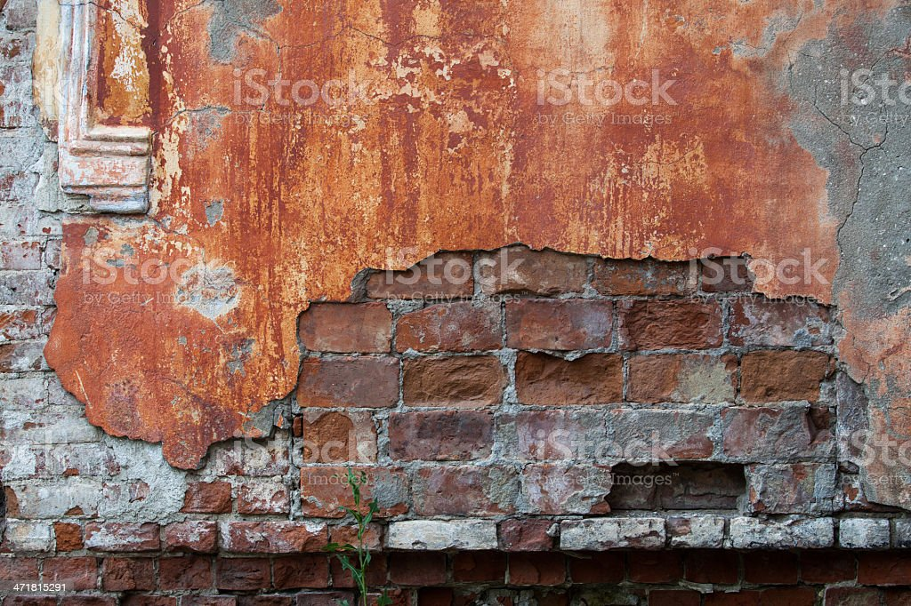 Red brick wall background. Textured pattern. royalty-free stock photo