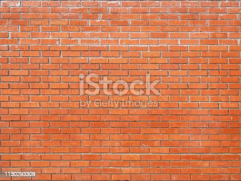 136699912 istock photo Red Brick wall backgrounds 1130293309