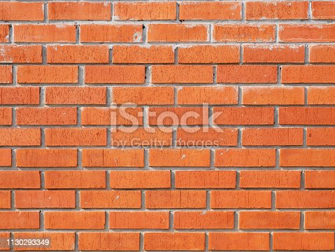 136699912 istock photo Red Brick wall backgrounds 1130293349