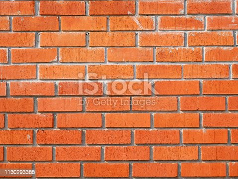 136699912 istock photo Red Brick wall backgrounds 1130293388