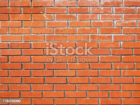 136699912 istock photo Red Brick wall backgrounds 1130293390