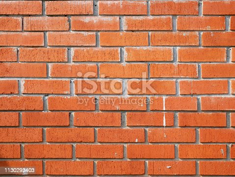 136699912 istock photo Red Brick wall backgrounds 1130293403