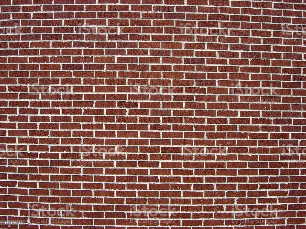 Red Brick Wall Closeup Background royalty-free stock photo