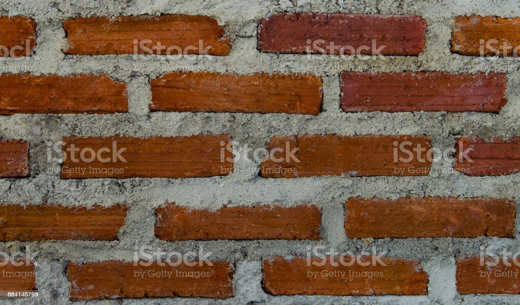 red brick wall in LOFT style in interiors royalty free stockfoto